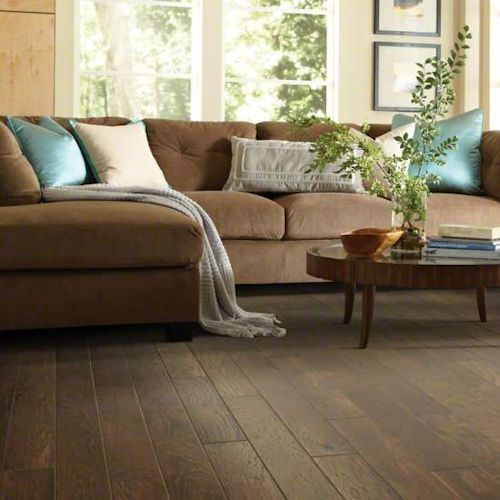 Click Wood Flooring Installation: Estate Hickory 5 IN. Click Lock By Shaw Hardwood Floors