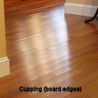 Avoid gaps cracks in hardwood flooring for Hardwood floors cupping
