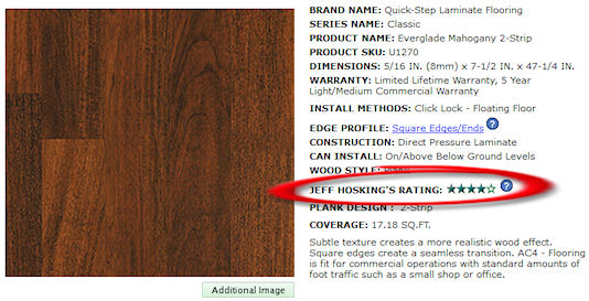 Laminate Flooring Rating