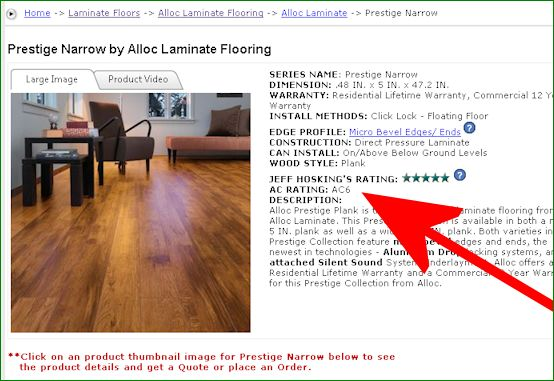 As You Can See The Higher Ac Rating On A Laminate Floor More Durable It Is In Everyday Situations Generally Flooring Rated At Ac1