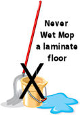 how to clean laminate floors