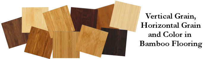 grain and color in bamboo flooring